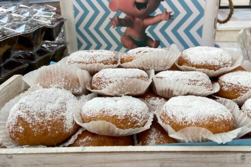 Donuts με άχνη