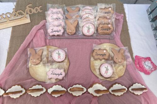 Ατομικές συσκευασίες με μπισκότα στο θέμα της βάπτισης