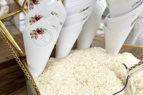 Χάρτινα χωνάκια για ρύζι