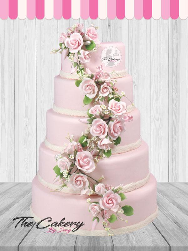 Γαμήλια Τούρτα Ροζ